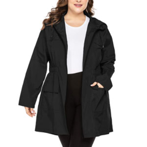IN'VOLAND Plus Size Raincoats - Best Raincoats for Travel: Raincoat jacket for plus size