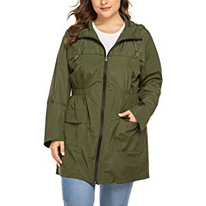 IN'VOLAND Plus Size Raincoats Long Rain Jacket - Best Raincoats for Iceland: Your indispensable umbrella