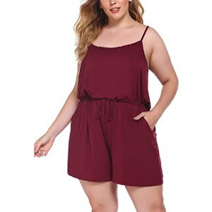 IN'VOLAND Women Rompers Plus Size  - Best Romper for Plus Size: Easy to mix and match