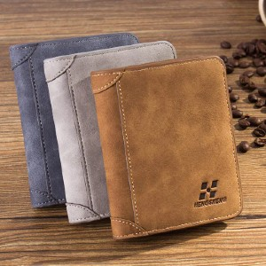 IPRee®  Vintage RFID Blocking Trifold Wallet - Best Men's Leather Wallets: Can Hold Cash and Other Valuable Items