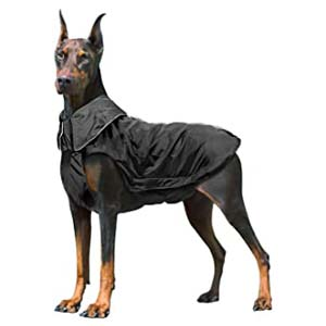 IREENUO Waterproof Dog Warm Coat - Best Raincoats for Big Dogs: Perfectly placed harness hole