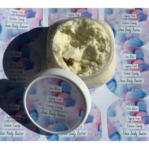 Irie Bliss Beauty COTTON CANDY SHEA BUTTER - Best Body Butters for Dry Skin: Sweet Carnival Cotton Candy Scented