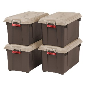IRIS 82 Quart Weathertight Store-It-All Tote - Best Storage Container Homes: Unmatched security