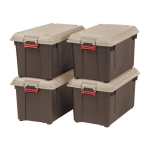 IRIS 82 Quart Weathertight Store-It-All Tote - Best Storage Containers for Garage: Unmatched security