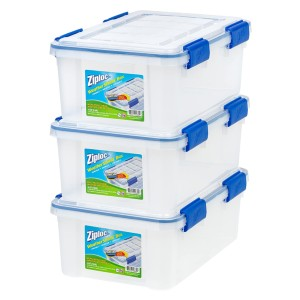 IRIS USA Inc Ziploc WeatherShield - Best Storage Containers for Books: Stay in place
