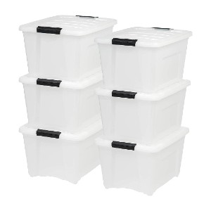 IRIS USA TB-28 Stack & Pull Storage Box - Best Storage Containers for Garage: Storing countless items