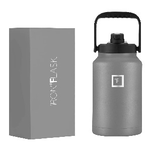 IRON FLASK Sports Water Bottle  - Best Water Jugs for Sports: Jug with Three Lids