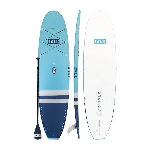 ISLE Cruiser Stand Up Paddle Board & SUP Bundle - Best Paddle Boards for Lakes: Smooth Textured Full Deck Paddle Board