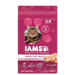 Iams ProActive Health Urinary Tract Health with Chicken Adult Dry Cat Food - Best Food for Cat Urinary Health: Healthy Immune System and Skin