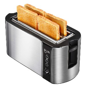 Ikich 4 Slice Long Slot Toaster - Best Toaster Long Slot: Toaster with Warming Rack