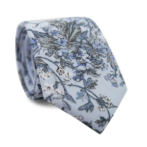 DAZI Indie Skye - Best Ties for Light Blue Shirts: For floral lovers