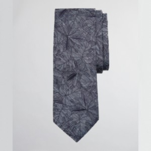 Brooks Brothers  Indigo Palm Tie  - Best Ties for Black Shirts: Stands out without overpowering