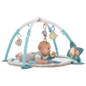 Infantino 4-in-1 Jumbo Baby Activity Gym & Ball Pit - Best Playmat for Tummy Time: Easy to store