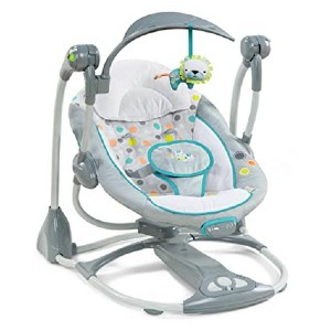 Ingenuity ConvertMe Swing-2-Seat Portable Swing - Best Baby Swings for Small Spaces: Baby swing and baby bouncer
