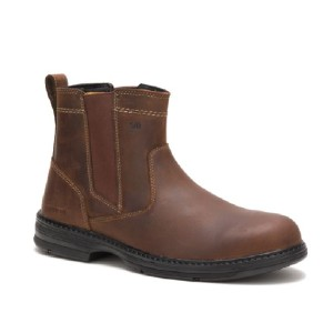 Cat Footwear Men's Inherit Pull On Steel Toe Work Boot - Best Boots with Jeans: Superior Flexibility and Lightweight Durability