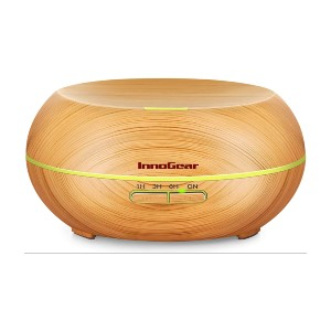 InnoGear Diffusers for Essential Oils - Best Oil Diffusers on Amazon: Wood Grain Diffuser