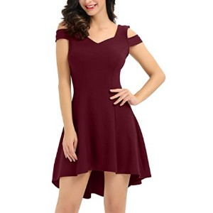 InsNova Women's Cold Shoulder Party Dress  - Best Dress for Reception Party: Simple and elegant