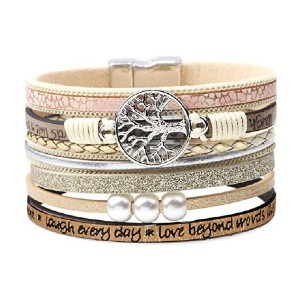 DESIMTION Inspirational Tree of Life Leather Bracelets  - Best Jewelry for Teenage Girl: It won't fall off
