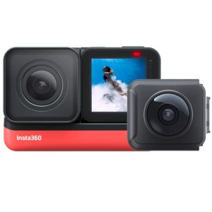 Insta360 ONE R Twin Edition - Best GoPro for Motorcycle: 5.7K 360 + 4K Wide Angle
