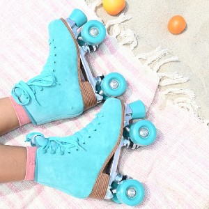 Intentionally Blank Rink Skate - Turquoise - Best Roller Skates Shoes: Dazzling Turquoise Roller Skates