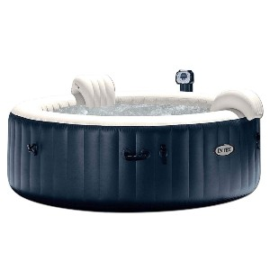 Intex Inflatable Portable Heated Round Hot Tub Spa - Best Hot Tub for Cold Climates: Hot Tub with Two Headrests