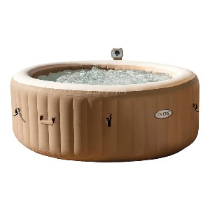 Intex PureSpa Portable Bubble Massage Spa Set - Best Two-Person Hot Tubs: Hot Tub with Built-In Hard Water Treatment System