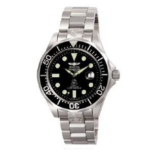 Invicta Stainless Steel Grand Diver Automatic Watch - Best Waterproof Watches: Powers Automatically with The Movement of Your Arm