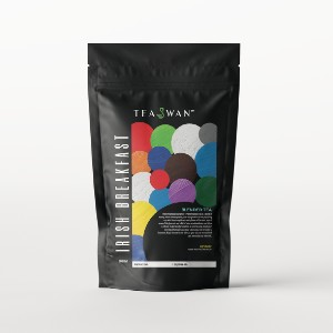 TeaSwan Irish Breakfast Black Tea - Best Tea to Drink in the Morning: Bright Cup with a Coppery Highlights
