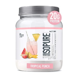 Isopure Infusions Refreshingly Light Fruit Flavored Whey Protein Isolate Powder - Best Gluten-Free Protein Powder: Stevia Leaf for Sweetness Protein Powder