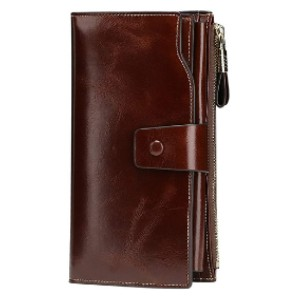 Itslife Luxury Wax Genuine Leather Clutch - Best Wallet for Lots of Cards: Classic and functional