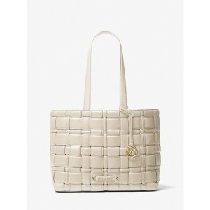 Michael Kors Ivy Medium Woven Tote Bag - Best Tote Bag Designers: Interior Details with Removable Snap Pouch