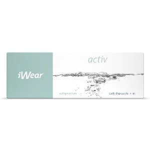 Iwear Activ  - Best Contact Lenses for Astigmatism: High Oxygen Transmissibility