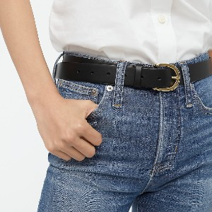 J.Crew Classic belt in Italian leather - Best Women's Leather Belts for Jeans: Sturdy Classic Belt