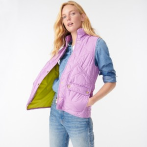 J.Crew Quilted vest with PrimaLoft® - Best Down Vests for Women: Joyful Color Vest