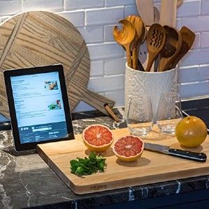 J.K. Adams Pro Classic 2.0 - Best Cutting Boards for Chicken: With a phone slot