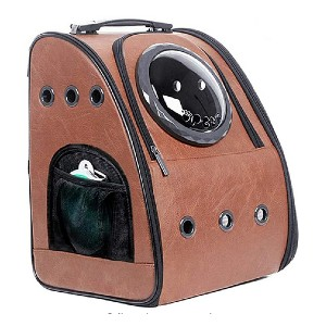 JAHUITE Bubble Space Capsule Backpack - Best Pet Carriers for Flying: Classy and unique look