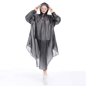 JATEN Rain Poncho with Hood - Best Raincoats for Festivals: Raincoat with Face Shield