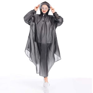 JATEN Rain Poncho with Hood - Best Raincoats for Florida: Rain poncho with face shield