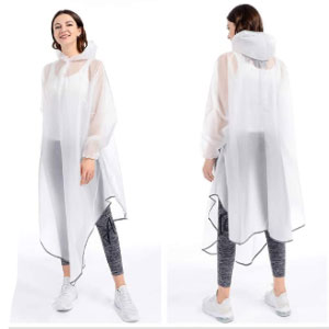 JATEN Rain Poncho with Hood - Best Raincoats for Women: Windproof and Transparent Design Raincoat