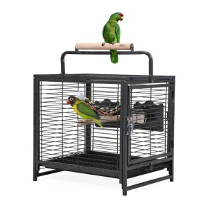 JAXPETY Pet Products 18.9-Inch Protable Iron Bird Cages - Best Bird Cage for Finches: Travel-friendly pick