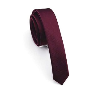 JEMYGINS Solid Color Skinny Tie - Best Ties for Black Shirts: Heavy-weighted and elastic