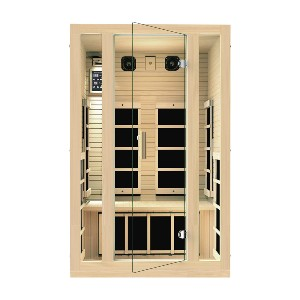 JNH Lifestyles Joyous 2 Person Far Infrared Sauna - Best Two-Person Sauna: Dual-Wall Insulation Sauna