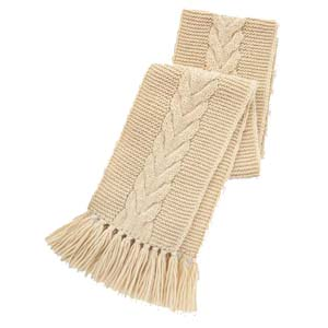 Uniqlo JW Anderson Cable Knit Scarf - Best Scarves for Winter: Natural color won't go wrong