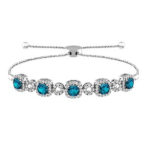 Jared London Blue Topaz and White Topaz Bracelet - Best Jewelry for 25th Wedding Anniversary: Highly customizable