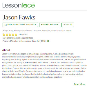 Lesson Face Jason Fawks - Best Online Tin Whistle Lessons: Lesson Recording Available