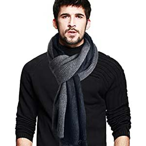 Jesse Rena Men's Long Scarf - Best Scarves for Winter: Manly and not bulky