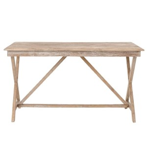 Pottery Barn Jessie Reclaimed Wood Extending Desk - Best Minimalist Work Desk: Provide additional surfaces