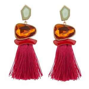 Eloquii Jeweled Tassel Statement Earrings - Best Jewelry for Plus Size: Fun and flirty