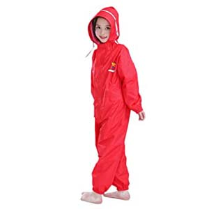 JiAmy Kids Baby One Piece Rainsuit - Best Raincoats for Toddlers: No leakage guarantee