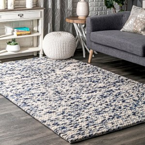Joss & Main Adalaide Hand-Braided Wool - Best Rugs for Dining Rooms: Canvas Backing Completes The Low-Maintenance